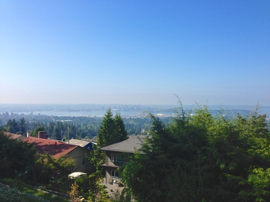 From Prospect Rd, highest point in North Van