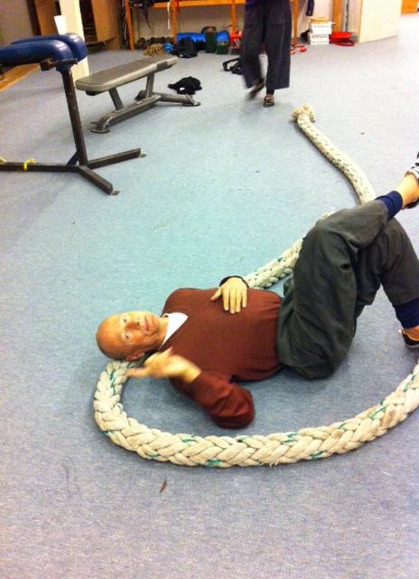KL using Phat rope as pillow
