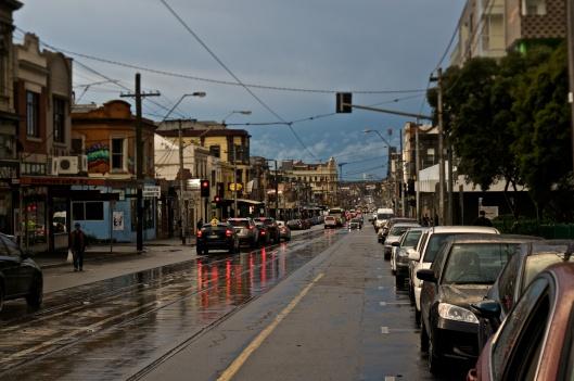 After the rainbow: Brunswick Street