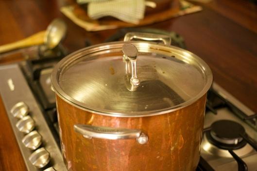 Saucepan lid closeup: beauty in daily life!