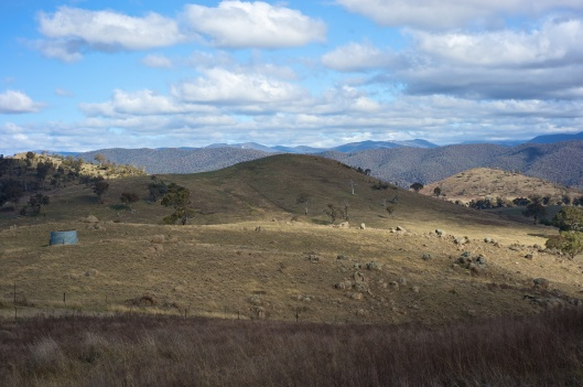Water Tank, closer view, and light on the hills